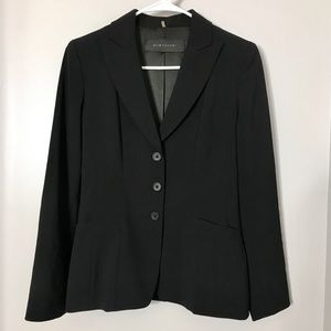 Beautiful Elie Tahari Detailed Black Blazer Size 2